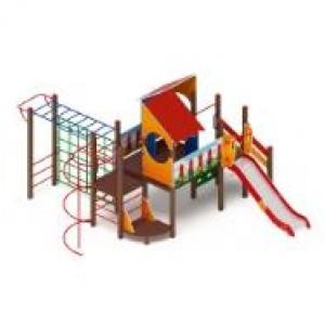 H=1200 Детский игровой комплекс «Теремок»  6500*6040*3300