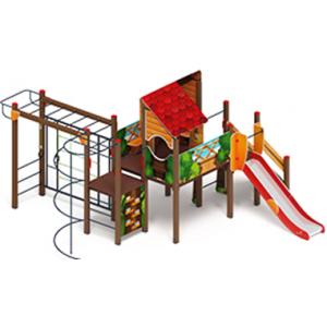 H=1200 Детский игровой комплекс «Теремок»  6510х6000х3290