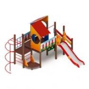 Детский игровой комплекс «Теремок» H=1200   4090*6040*3300