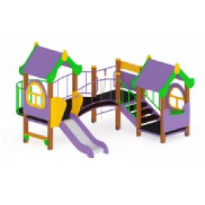 Детский игровой комплекс «Теремок» H=750 3810*3410*2700
