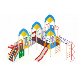 Детский игровой комплекс                           Космопорт Горка 1200                                           10050х8860х3720