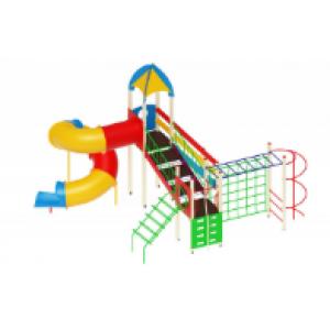 Детский игровой комплекс                          Космопорт Горка-труба                                          6990х4830х5200