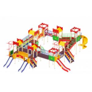 Детский игровой комплекс Замок H=900, 1200, 2000 12400*9270*4500