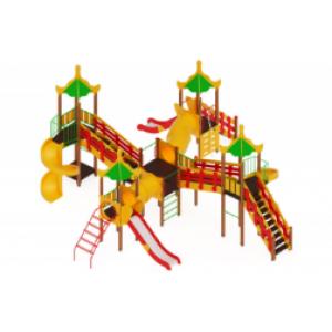 Детский игровой комплекс «Азия» H=1200, 2000 8730*9340*4680