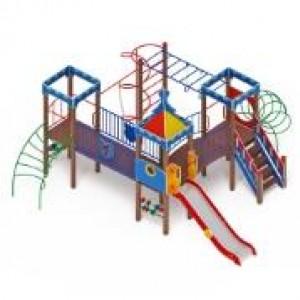 H=1200  Детский игровой комплекс «Волшебный город»   6350х6130х3720