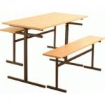 Стол для столовой 6-местный для скамеек (гр. 5 или 6) (Пластик)
