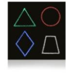 Панель «Цветные фигуры-4