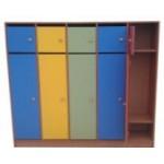 Шкаф для одежды с антресолью  4-секц.