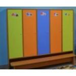 Шкаф для одежды с нишей внизу 3-секц.