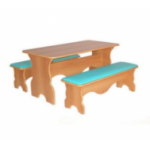 Стол фигурный с 2-мя скамейками