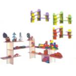 Стеллаж угловой для игрушек