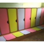 Шкаф для одежды с банкеткой приставной  3-секц.