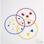 Кольца для классификации предметов настольные (диаметр 25см., 3 цвета, 15 шт.) (продажа только из наличия)