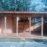 Веранда деревянная с хоз.блоком                3м*5м : 3,0*5,0*2,4