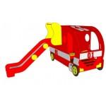 Машина «Пожарная» с горкой м: 2,63*2,28*1,3