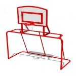 Детские футбольные ворота с баскетбольным щитом  м: 2,0*0,9*2,4