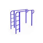 Брусья с лестницей 1500х600х1200