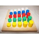 Сортировщик - Цвет и высота  25 элементов.