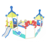 Песочный дворик морской с горкой                                           4440х4570х2730