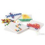 Мозаика Peg Board (5 цветов, 5 досок 15,7см, 1000 деталей)