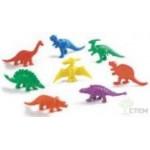 Материал счетный фигурки Динозавры (128шт., 8формs, 6 цветов)