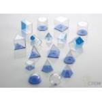 Набор геометрический  5 см (прозрачная  пластмасса, 17 фигур)