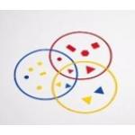 Кольца для классификации предметов большие (диаметр  50 см., 3 цвета, 6 шт.)