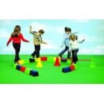 Детская балансировочная дорожка из блоков