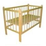 Кровать ясельная с высокими бортами СТАНДАРТ  Массив, лак, сборка шип-паз             h –124*64