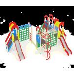 Детский игровой комплекс                           Дворик детства  Горка 1200                                           8980х5760х3000