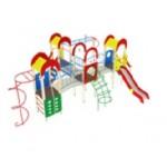 Детский игровой комплекс                           Дворик детства  Горка 1200                                           8470х8020х3000