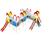 Детский игровой комплекс                           Солнышко Горка 1200                                           8280х8240х3000