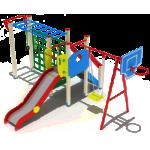 Детский игровой комплекс                           Счастливое детство Горка 1200                                           4360х6230х2800