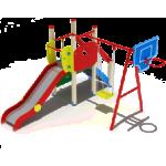 Детский игровой комплекс                           Счастливое детство Горка 1200                                           4360х3780х2800