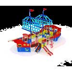 Детский игровой комплекс                          Флагман Горки 1200, 1500, 2000                                           15600х11300х9500