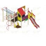 H=1200 Детский игровой комплекс «Теремок»  6640х6040х3300