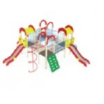 Детский игровой комплекс                           Дворик детства  Горка 1200                                           6960х7390х3000